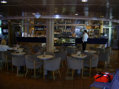 2012 - On board BLUE STAR NAXOS : business class bar.