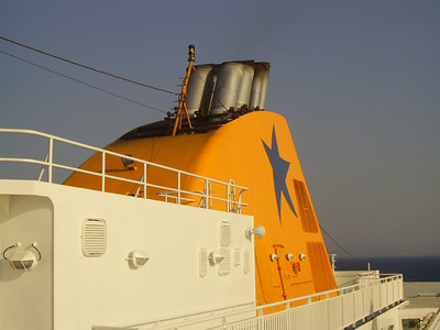 2012 - On board BLUE STAR NAXOS : the funnel.