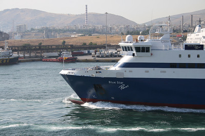 2011 - BLUE STAR PAROS departing from Piraeus.