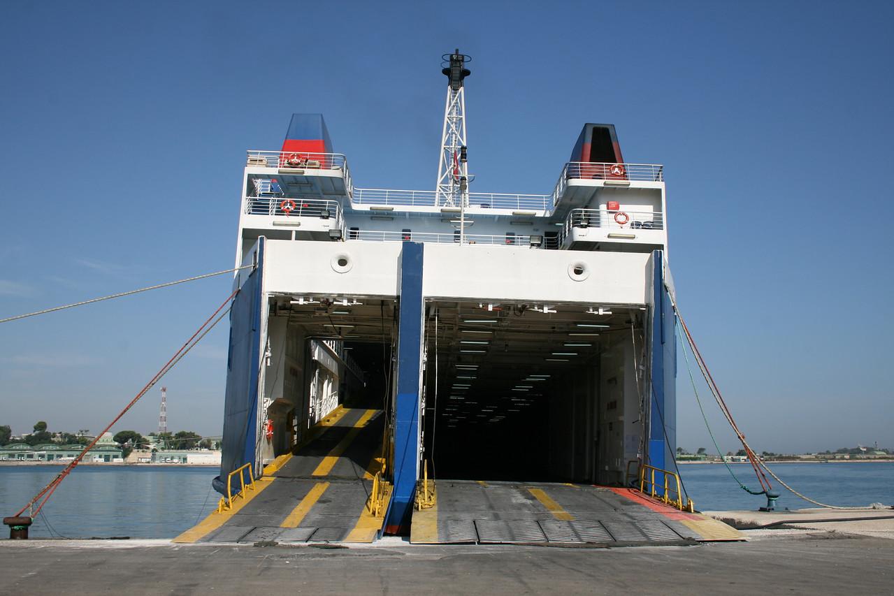 F/B BRIDGE : moored in Brindisi.
