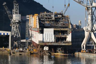CRUISE EUROPA in construction at Castellammare di Stabia.