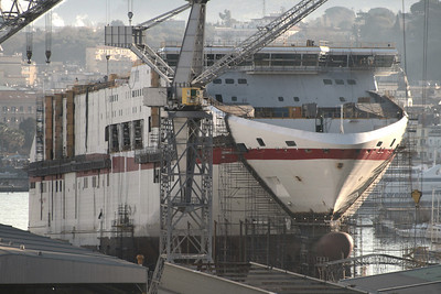 CRUISE EUROPA in construction at Castellammare di Stabia.