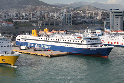 F/B DIAGORAS embarking in Piraeus.