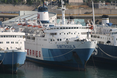 2011 - DIMITROULA laid up in Piraeus waiting for scrap.