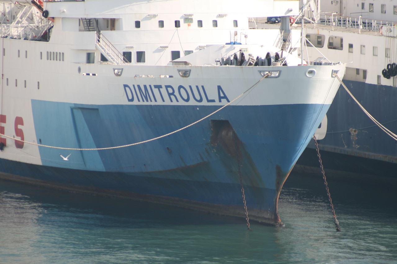 2011 - DIMITROULA laid up in Piraeus waiting for scrap.