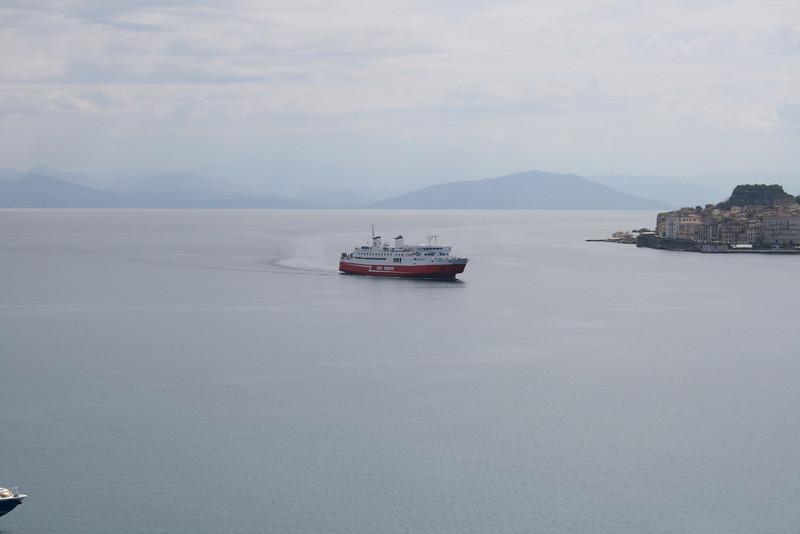 F/B EKATERINI P arriving to Corfu from Igoumenitsa.