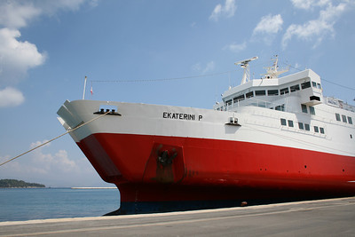 F/B EKATERINI P moored in Corfu.