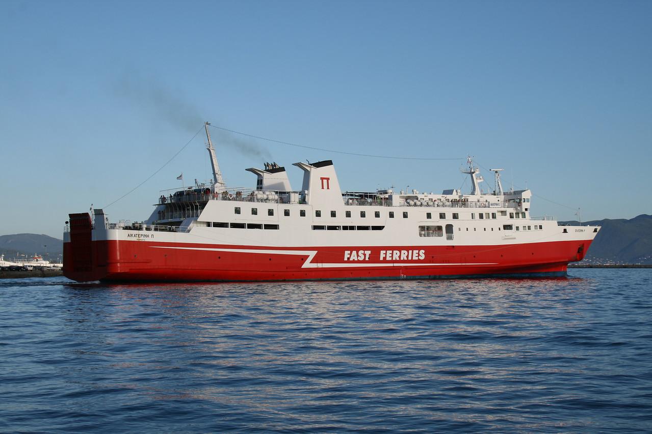 F/B EKATERINI P departing from Corfu to Igoumenitsa.