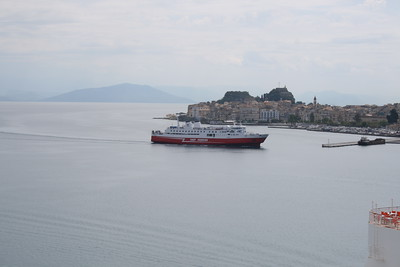 F/B EKATERINI P arriving to Corfu from Igoumenitsa.