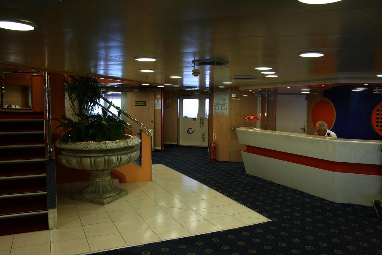 2010 - On board F/B ELLI T : the reception.
