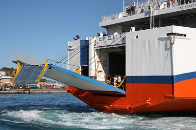 2010 - F/B ELLI T approaching astern in Corfu.