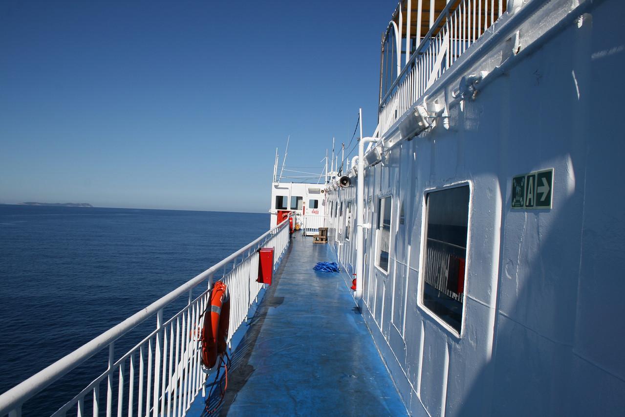 2010 - On board F/B ELLI T : deck 6 walkway to the bridge.
