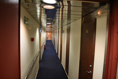 2010 - On board F/B ELLI T : deck 5 cabin corridor.