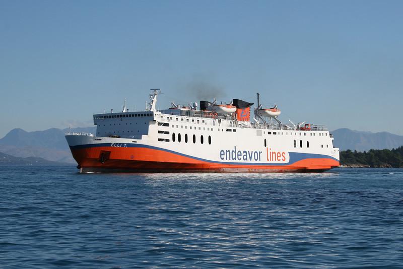 2010 - F/B ELLI T arriving to Corfu.