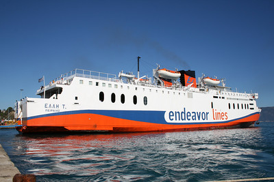 2010 - F/B ELLI T moored in Corfu.