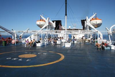 2010 - On board F/B ELLI T : deck 6 solarium.