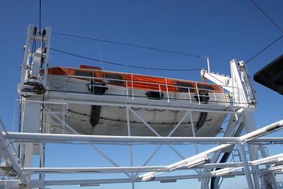 2010 - On board F/B ELLI T : lifeboat.