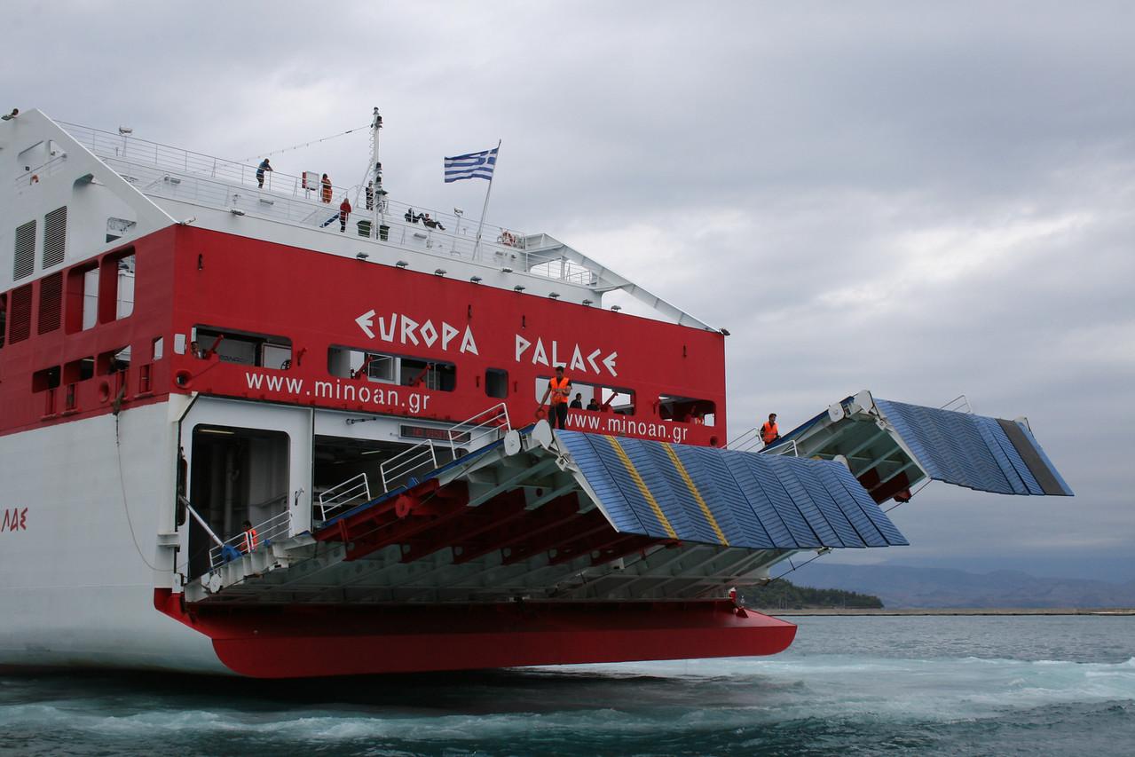 F/B EUROPA PALACE mooring in Corfu.
