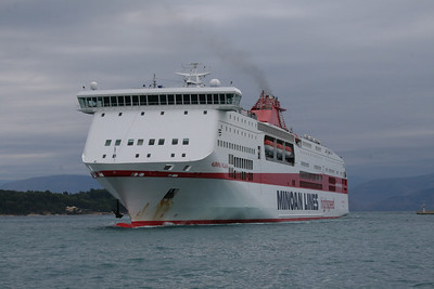 F/B EUROPA PALACE arriving to Corfu.