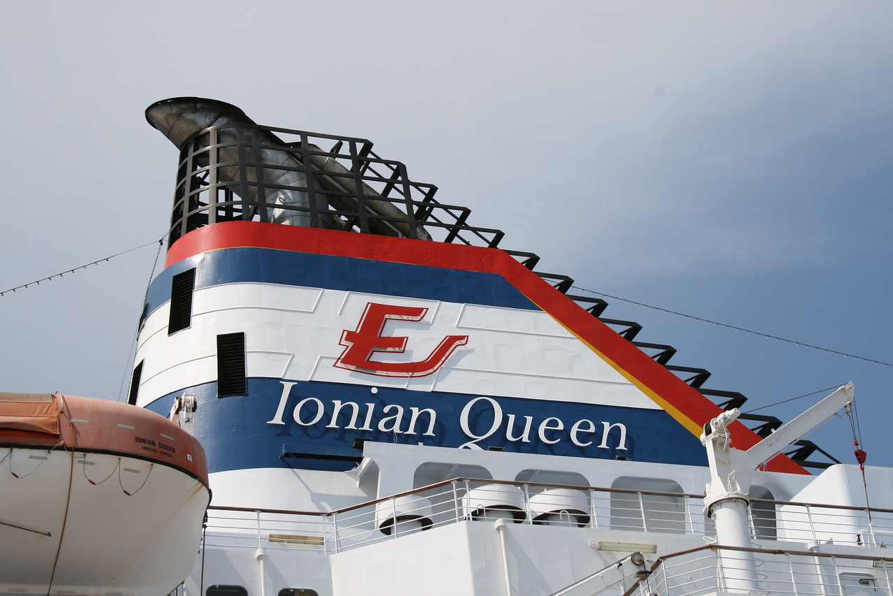 2008 - F/B IONIAN QUEEN : the funnel.