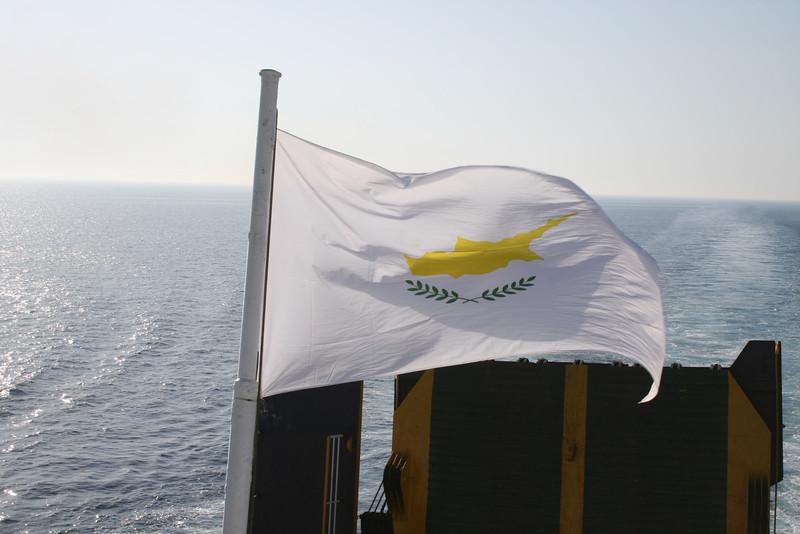 2010 - On board F/B IONIAN SKY : Cyprian flag.