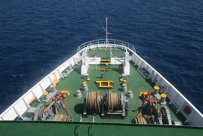 2010 - On board F/B IONIAN SKY : bow operating station.