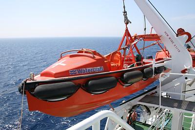 2010 - On board F/B IONIAN SKY : fast rescue boat.