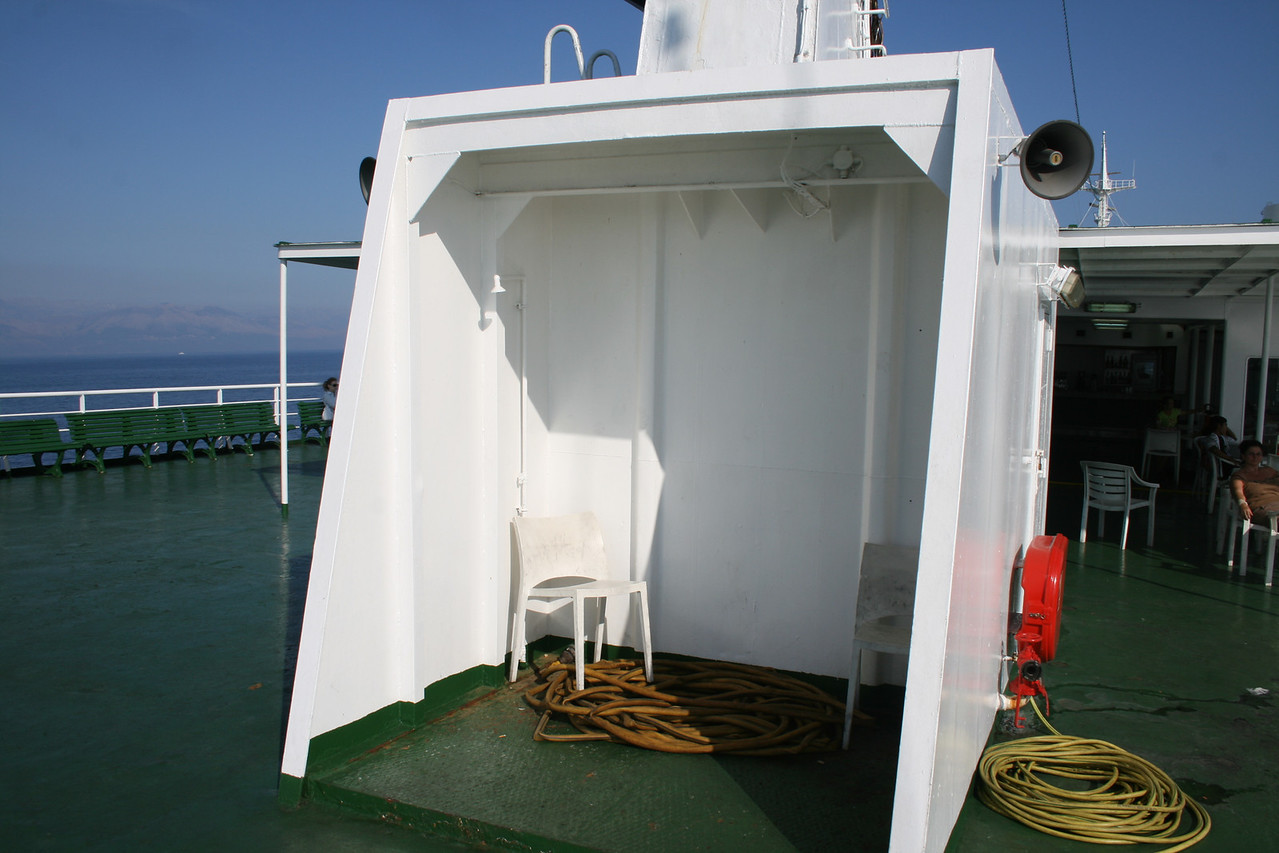 2010 - On board F/B IONIAN SKY : solarium shower, deck 8.