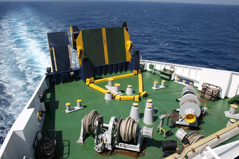 2010 - On board F/B IONIAN SKY : stern operating station.
