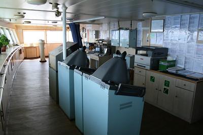 2010 - On board F/B IONIAN SKY : the bridge, radar controls.
