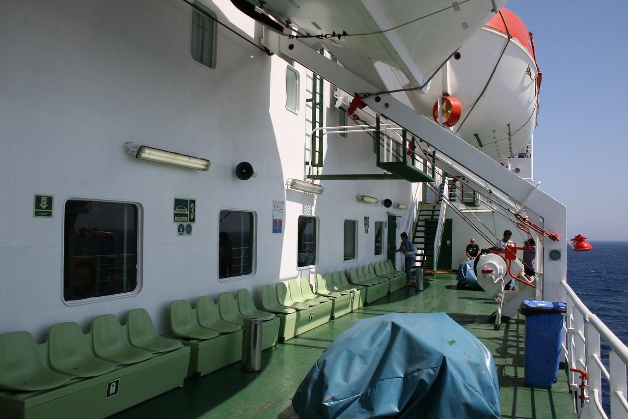 2010 - On board F/B IONIAN SKY : walkway, deck 7.