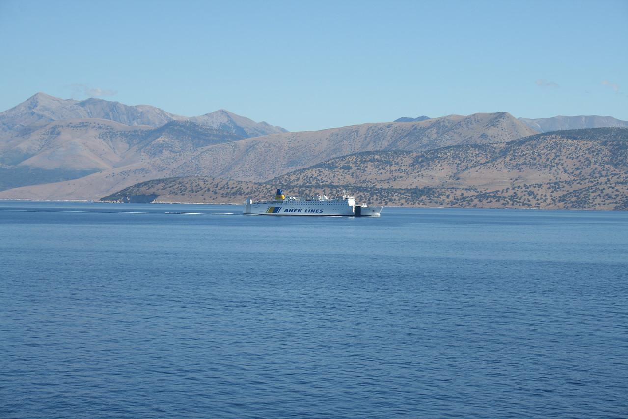 2010 - F/B LEFKA ORI coasting Albania on route Ancona - Patra.