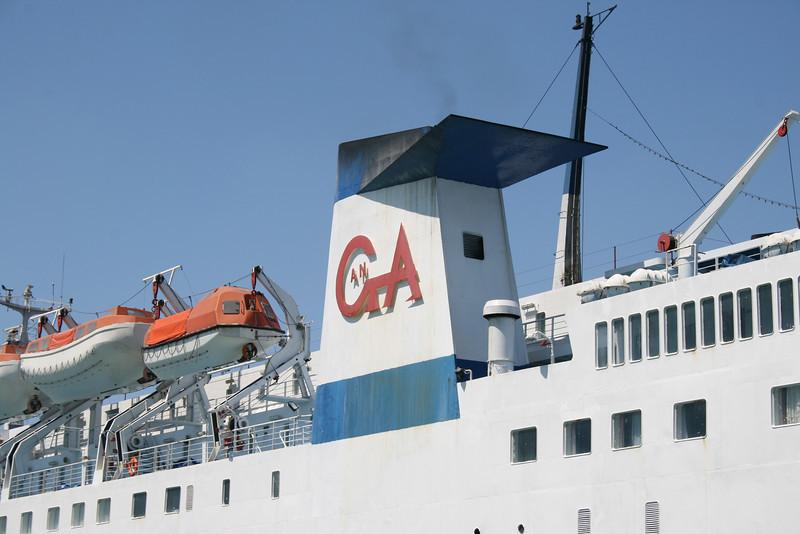 2009 - F/B MARINA in Piraeus : the funnel.