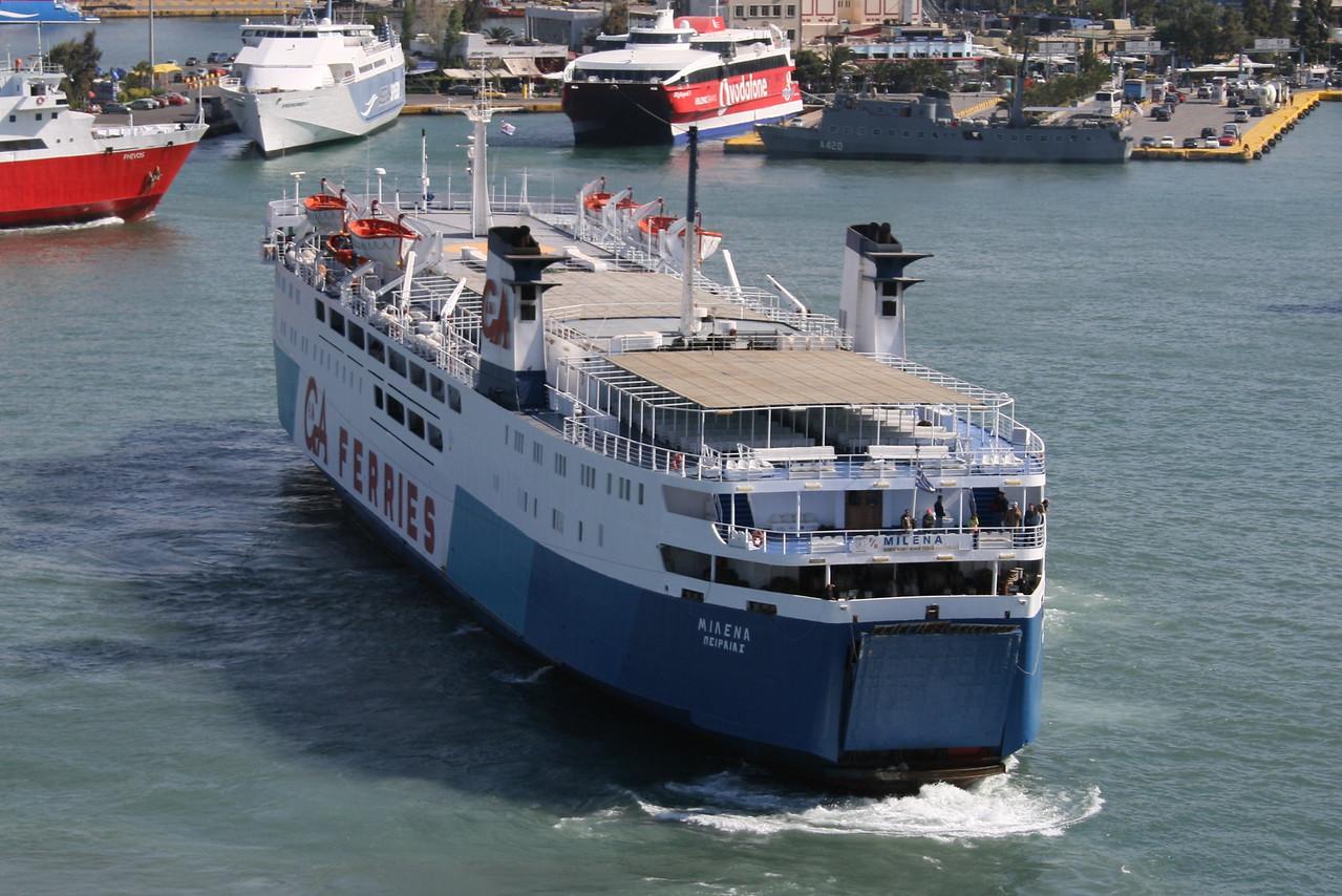 2008 - F/B MILENA arriving to Piraeus.