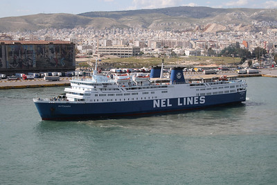 2008 - F/B MYTILENE departing from Piraeus.