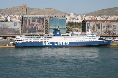 2008 - F/B MYTILENE embarking in Piraeus.