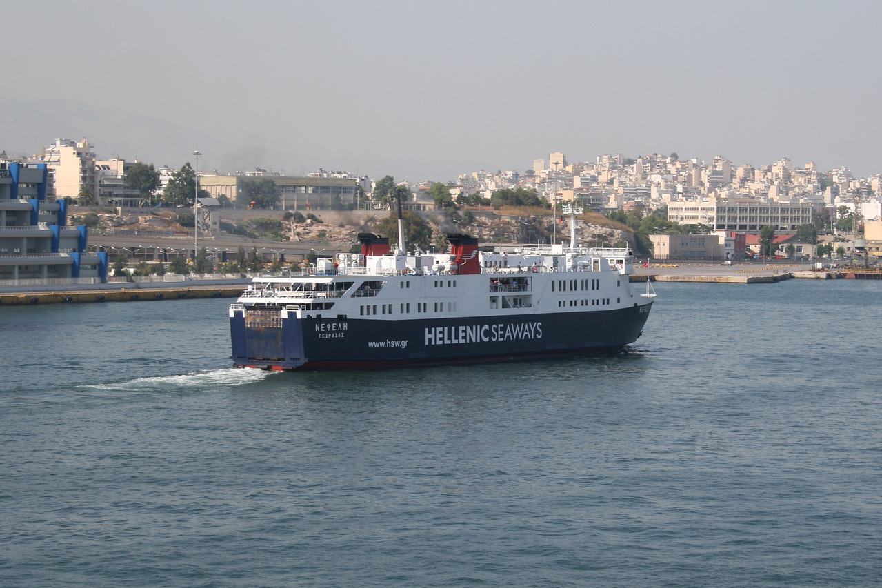 2011 - F/B NEFELI arriving to Piraeus.