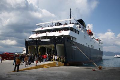 2008 - F/B PANTOKRATOR disembarking in Corfu.