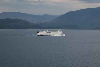 2008 - F/B PENELOPE coasting Albania on Brindisi - Igoumenitsa route.