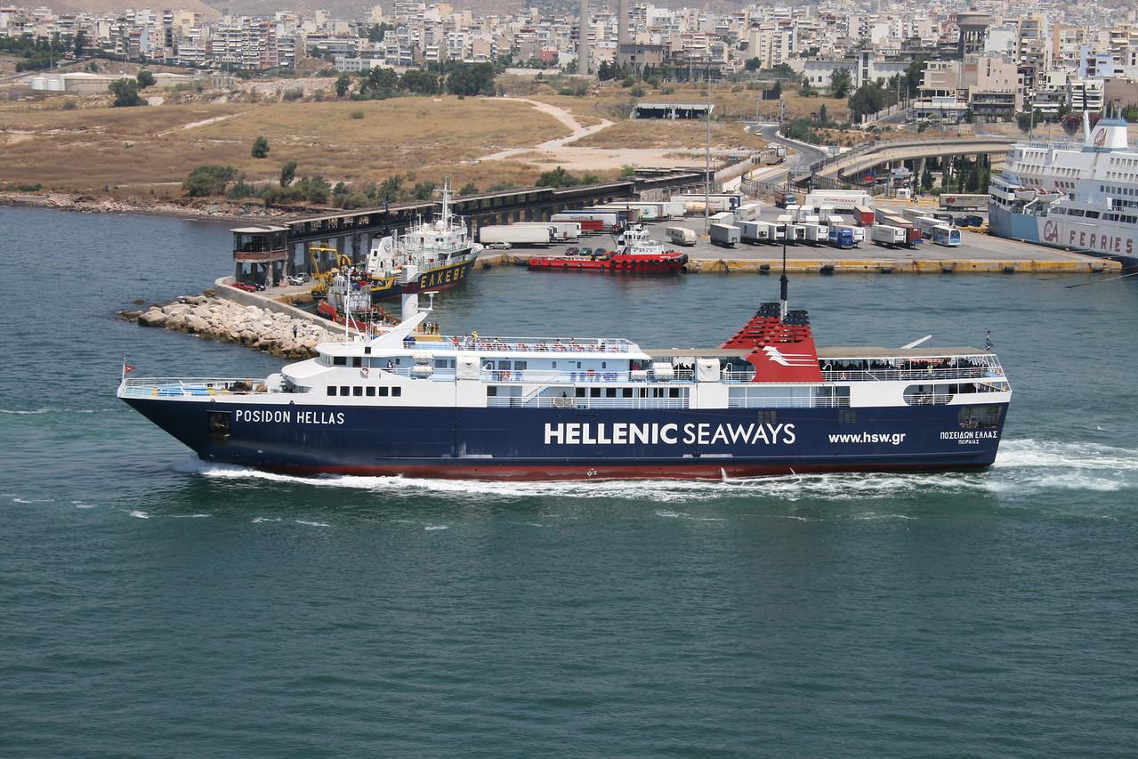 2011 - F/B POSIDON HELLAS departing from Piraeus