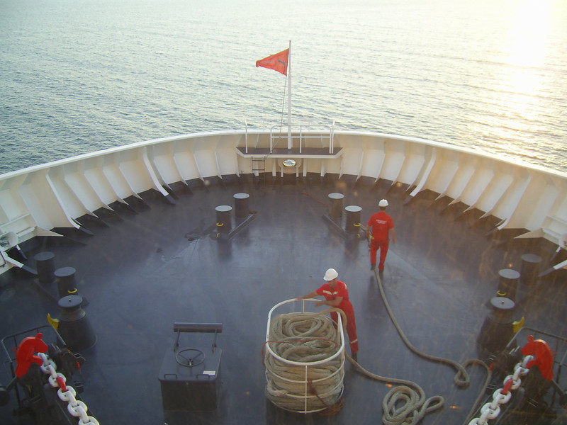 2012 - On board SUPERFAST II : operating station.
