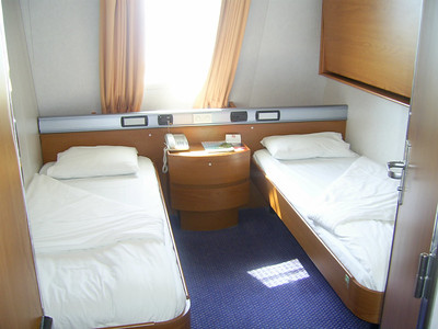2012 - On board SUPERFAST II : A-cabin.