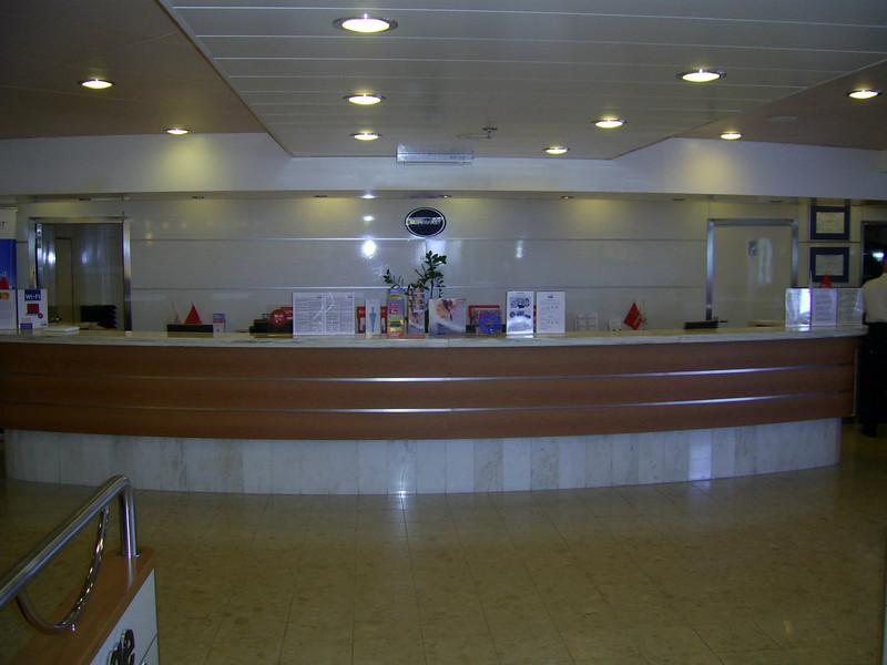 2012 - On board SUPERFAST II : reception desk.