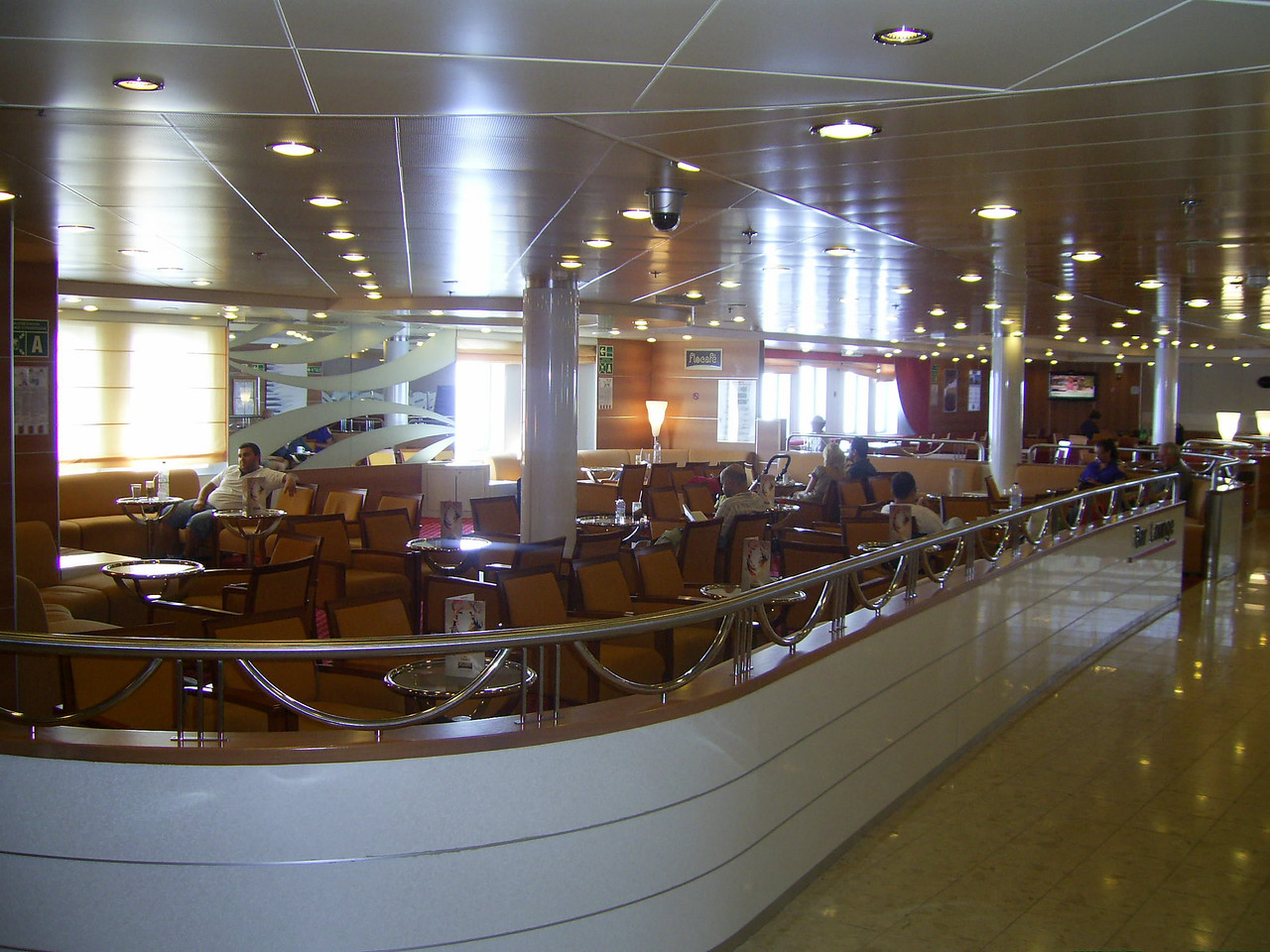 2012 - On board SUPERFAST II : Bar lounge.