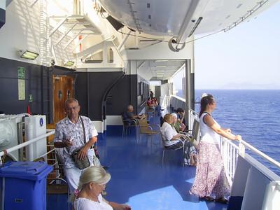 2012 - On board SUPERFAST II : Golden deck walkway.