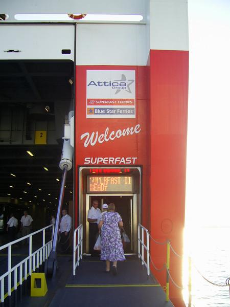 2012 - SUPERFAST II in Bari: boarding.