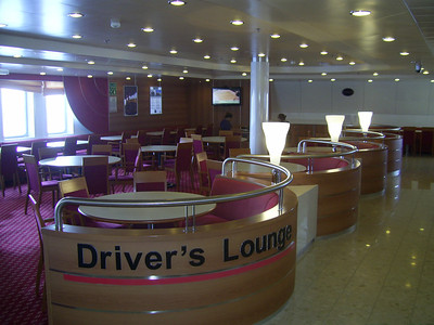 2012 - On board SUPERFAST II : Driver's lounge.