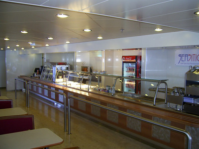 2012 - On board SUPERFAST II : self service restaurant.