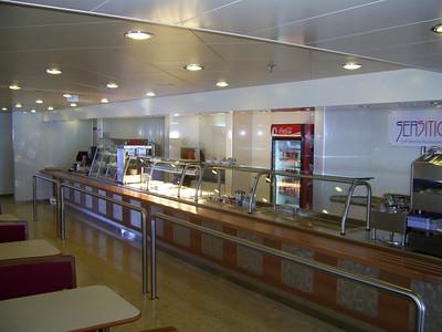 2012 - On board SUPERFAST II : self service restaurant.