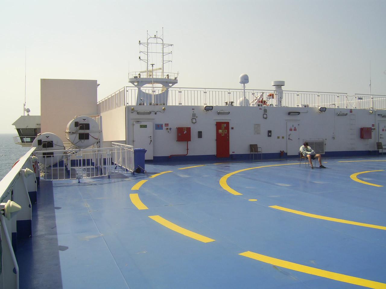 2012 - On board SUPERFAST II : Master deck, solarium.